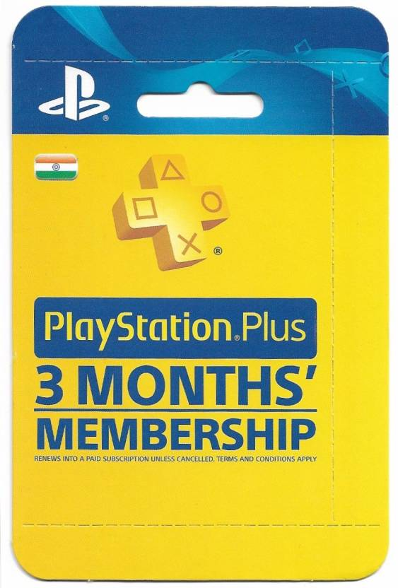 playstation plus 3 months membership india original