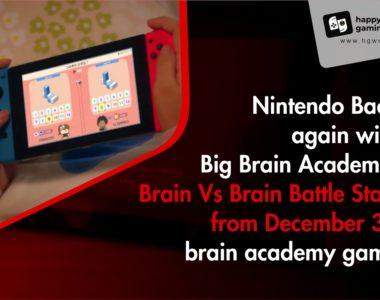 Nintendo Back again with Big Brain Academy: Brain Vs Brain Battle Start from December 3 - Brain Academy Game